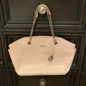 Handbags - Furla Julia Medium Leather Tote Bag Magnolia Pink